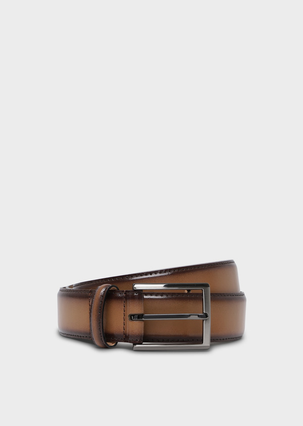 Ceinture en cuir lisse camel - Father and Sons 34771