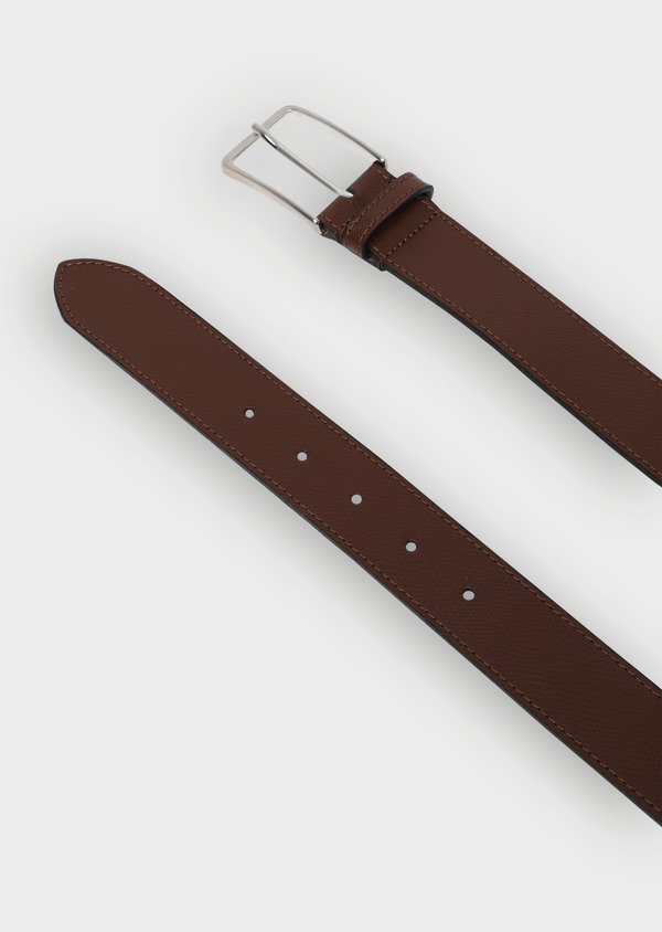 Ceinture en cuir grainé cognac - Father and Sons 34774
