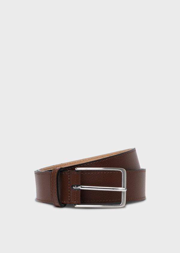 Ceinture en cuir grainé cognac - Father and Sons 34773