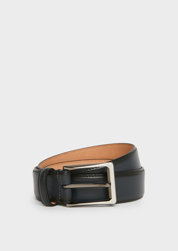 Ceinture en cuir lisse gris anthracite - Father and Sons 25750
