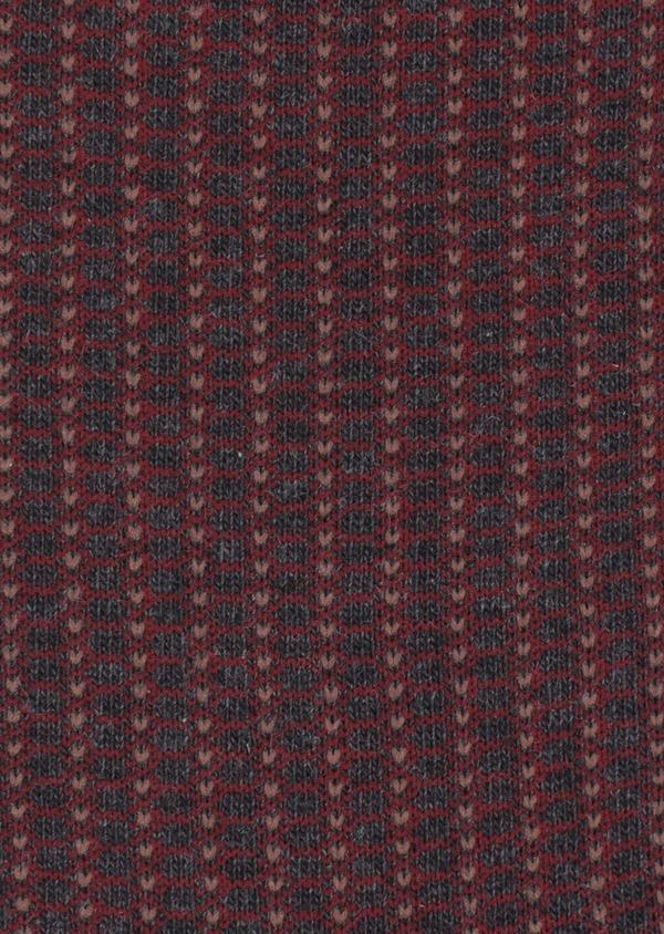Chaussettes en coton mélangé gris anthracite à motif fantaisie marron et bordeaux - Father and Sons 35585