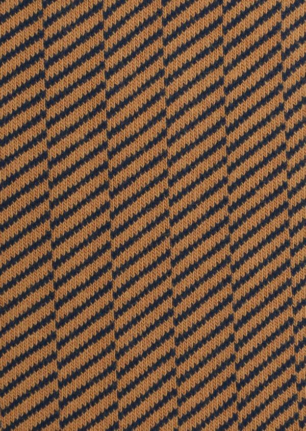 Chaussettes en coton mélangé jaune à motif fantaisie - Father and Sons 35577
