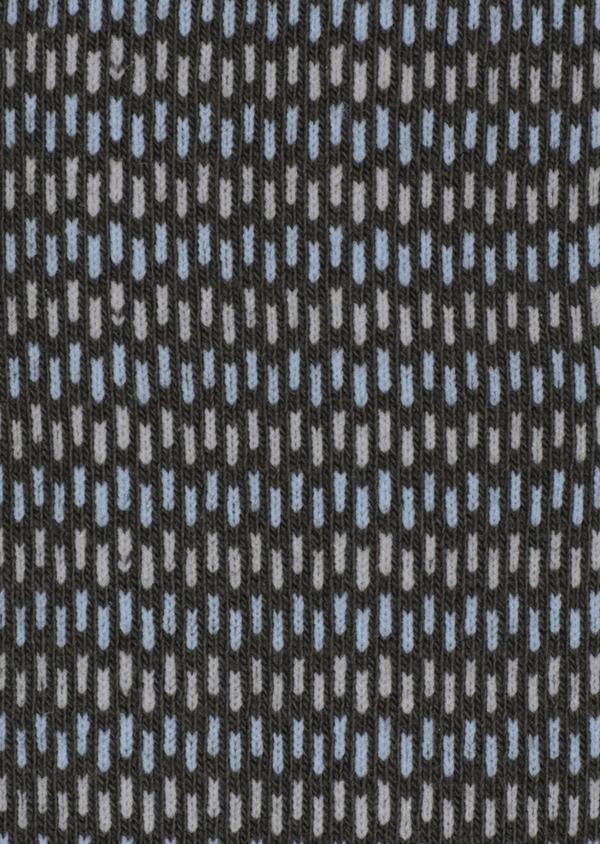 Chaussettes en coton mélangé vert kaki à rayures bleu ciel et gris - Father and Sons 34812