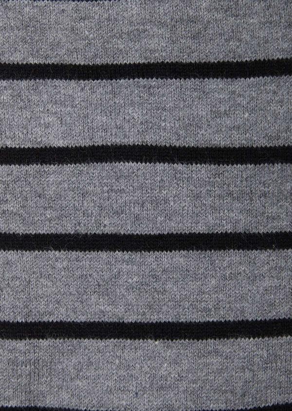 Chaussettes en coton mélangé gris à rayures - Father and Sons 37641