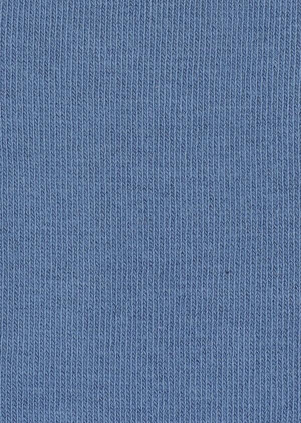 Chaussettes en coton mélangé uni bleu chambray - Father and Sons 34802
