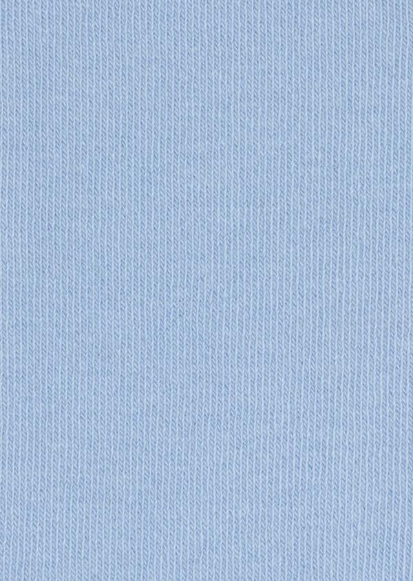 Chaussettes en coton mélangé uni bleu ciel - Father and Sons 34798
