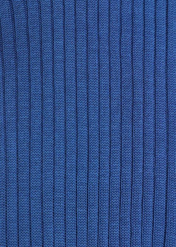 Chaussettes en coton fil d'Ecosse uni bleu - Father and Sons 34830
