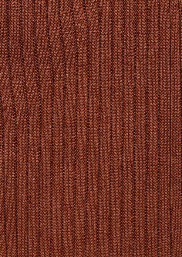 Chaussettes en coton fil d'Ecosse uni marron - Father and Sons 37284
