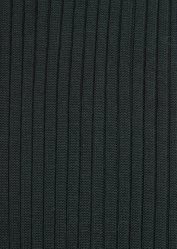 Chaussettes en coton fil d'Ecosse uni vert - Father and Sons 34834