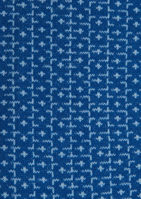 Chaussettes en coton mélangé bleu saphir à motif fantaisie bleu - Father and Sons 25863