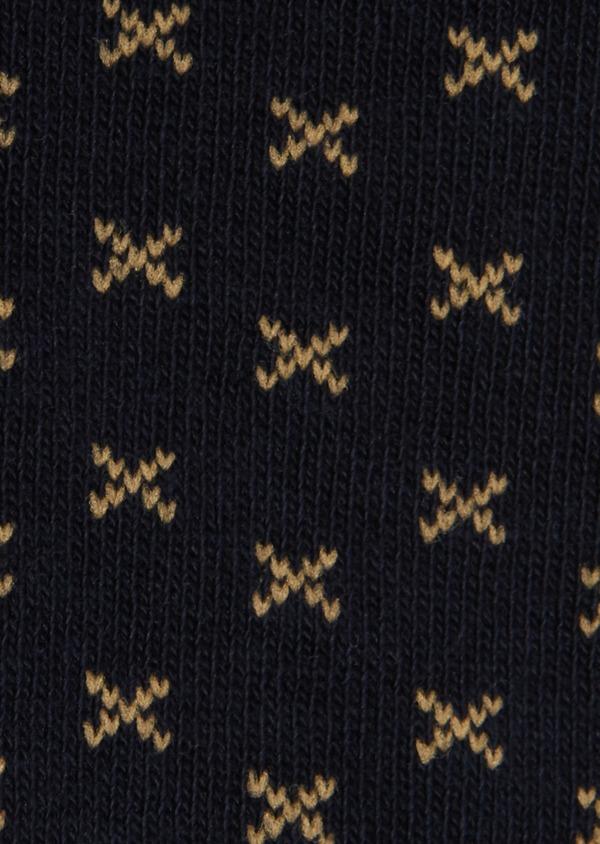 Chaussettes en coton mélangé marine à motif fantaisie - Father and Sons 18210