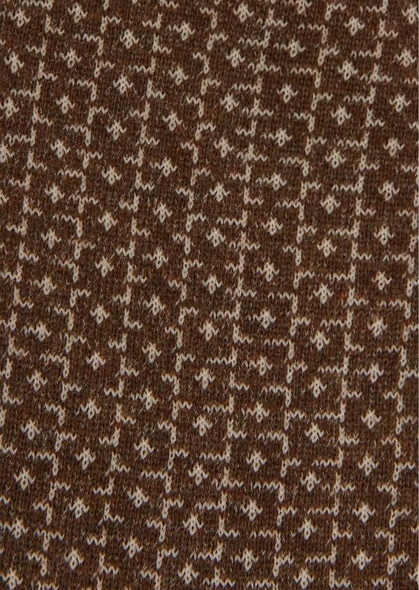 Chaussettes en coton mélangé camel à motif fantaisie camel - Father and Sons 25843