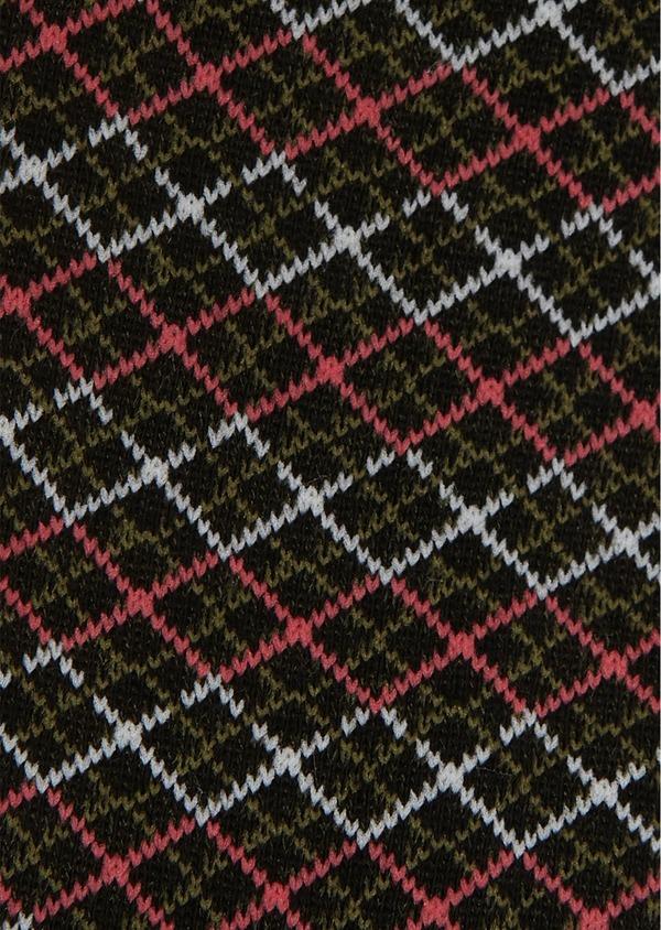Chaussettes en coton mélangé noir à motifs géométriques - Father and Sons 25839