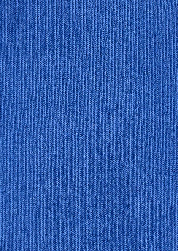 Chaussettes en coton fil d'Ecosse unies bleu azur - Father and Sons 18605
