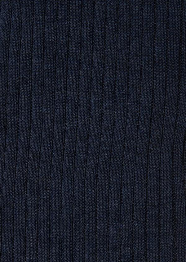 Chaussettes en coton mélangé bleu chambray uni - Father and Sons 25827