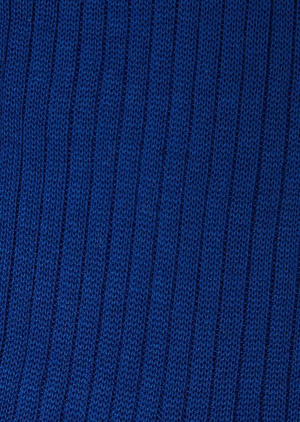 Chaussettes en coton mélangé bleu uni - Father and Sons 27235