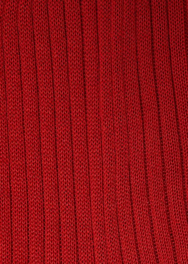 Chaussettes en coton mélangé orange potiron uni - Father and Sons 27227