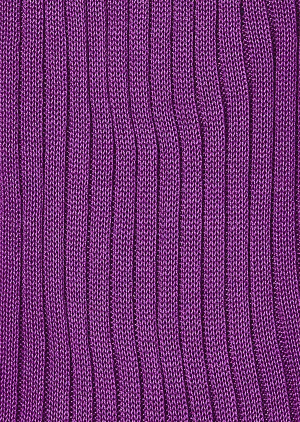 Chaussettes en coton fil d'Ecosse unies violet - Father and Sons 18609