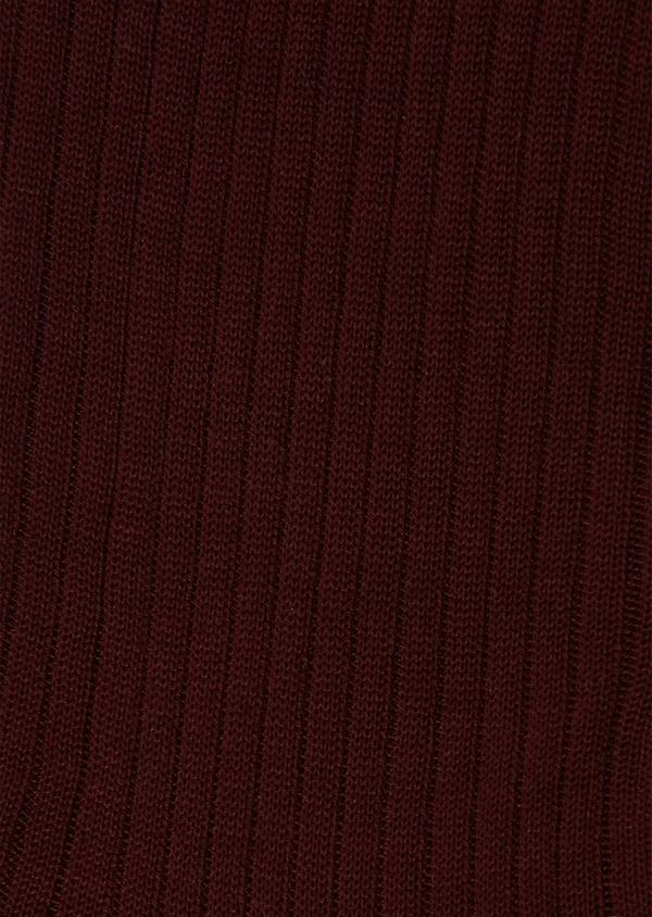 Chaussettes en coton mélangé bordeaux - Father and Sons 25823