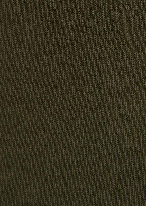Chaussettes en coton mélangé vert kaki uni - Father and Sons 25779