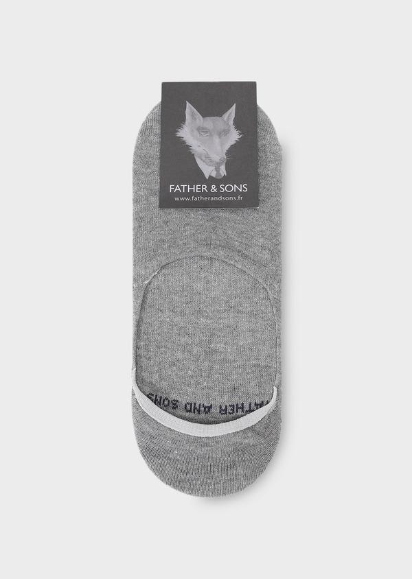 Chaussettes invisibles en coton uni gris - Father and Sons 28651