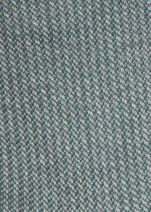 Chaussettes en viscose de bambou gris à motif fantaisie vert - Father and Sons 32183