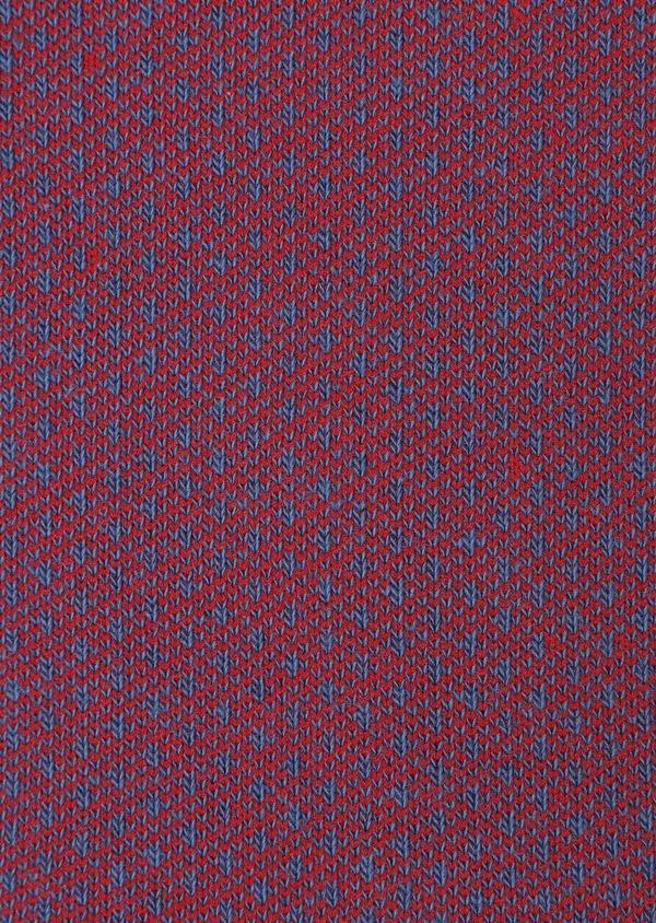 Chaussettes en coton mélangé bleu à motif fantaisie rouge - Father and Sons 32173