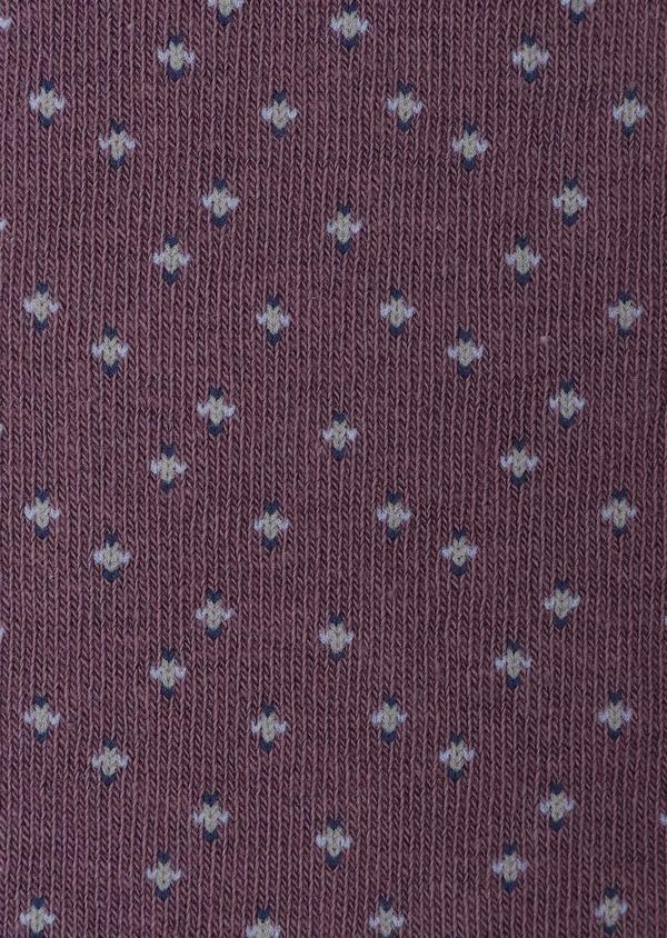 Chaussettes en coton mélangé violet à motif fantaisie bleu ciel, indigo et gris - Father and Sons 32153