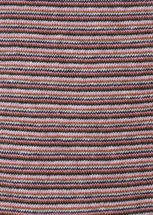 Chaussettes en coton mélangé cognac à rayures rose, bleu marine et gris - Father and Sons 32145