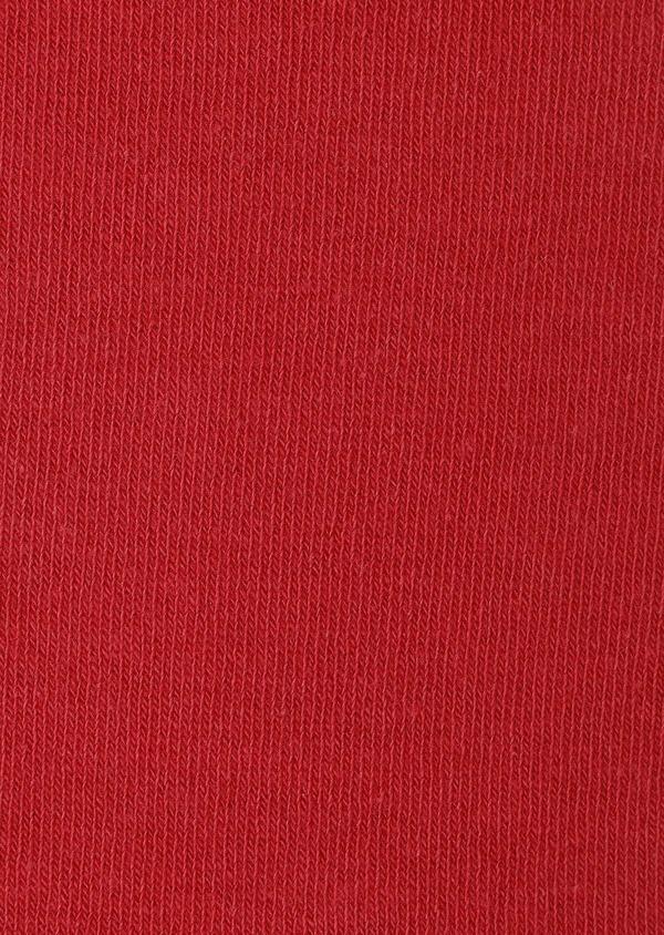 Chaussettes en coton mélangé uni rouge clair - Father and Sons 32125