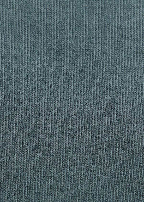 Chaussettes en coton mélangé uni vert - Father and Sons 32133