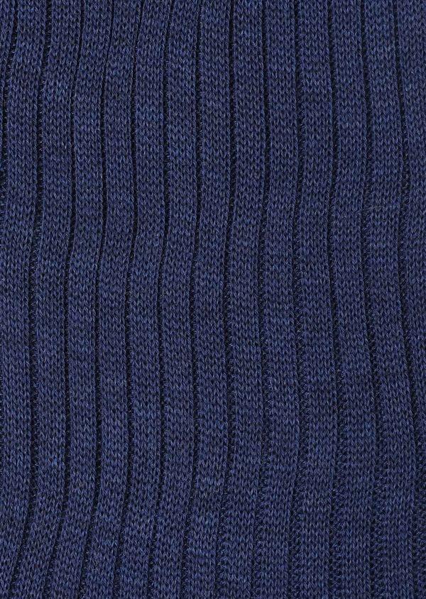 Chaussettes en coton fil d'Ecosse bleu chambray - Father and Sons 32199
