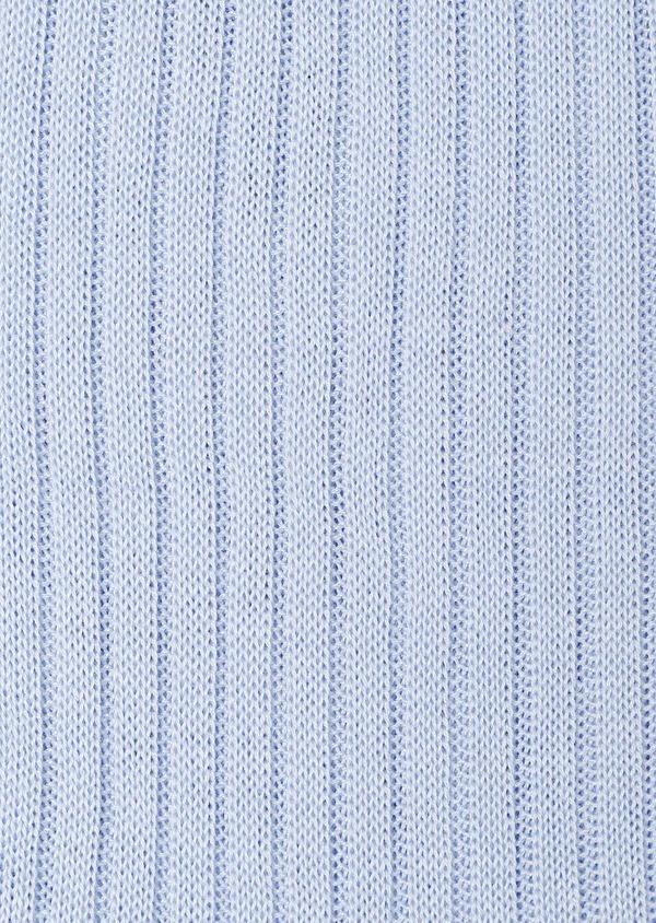 Chaussettes en coton fil d'Ecosse uni bleu ciel - Father and Sons 32195