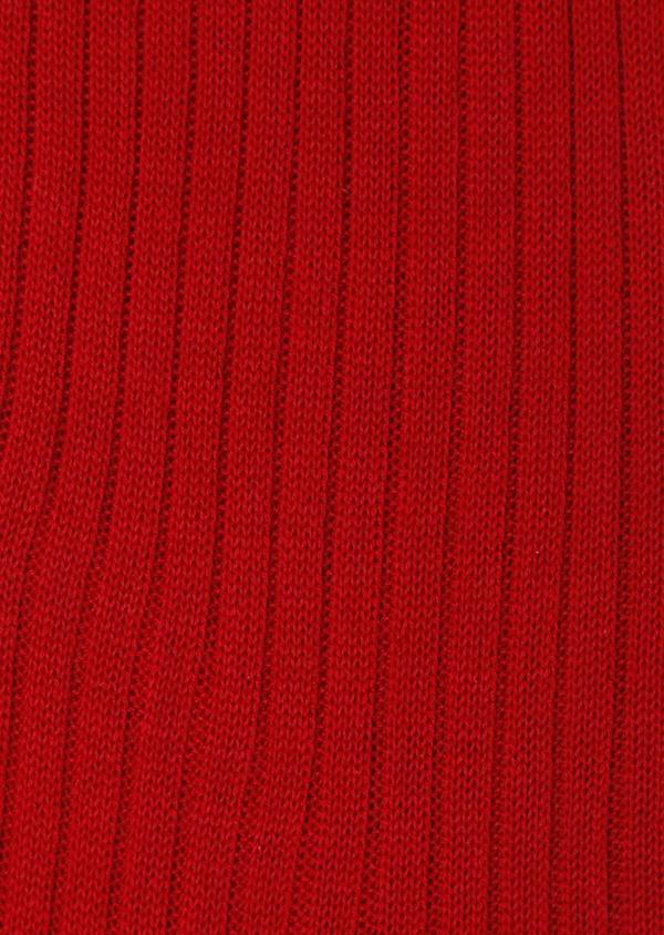 Chaussettes en coton fil d'Ecosse uni rouge - Father and Sons 32193