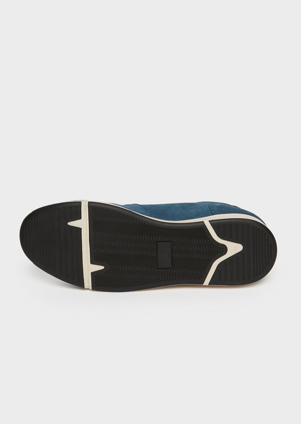 Baskets basses en cuir nubuck bleu marine - Father and Sons 26001