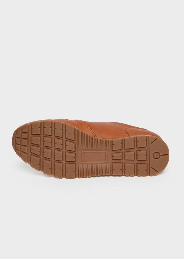 Baskets basses en cuir lisse cognac - Father and Sons 26006