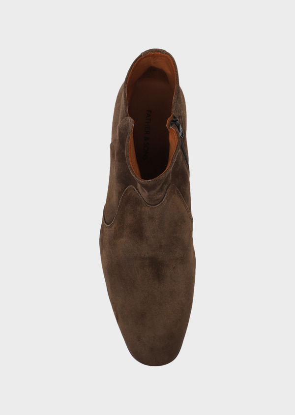 Boots en cuir nubuck taupe - Father and Sons 34874