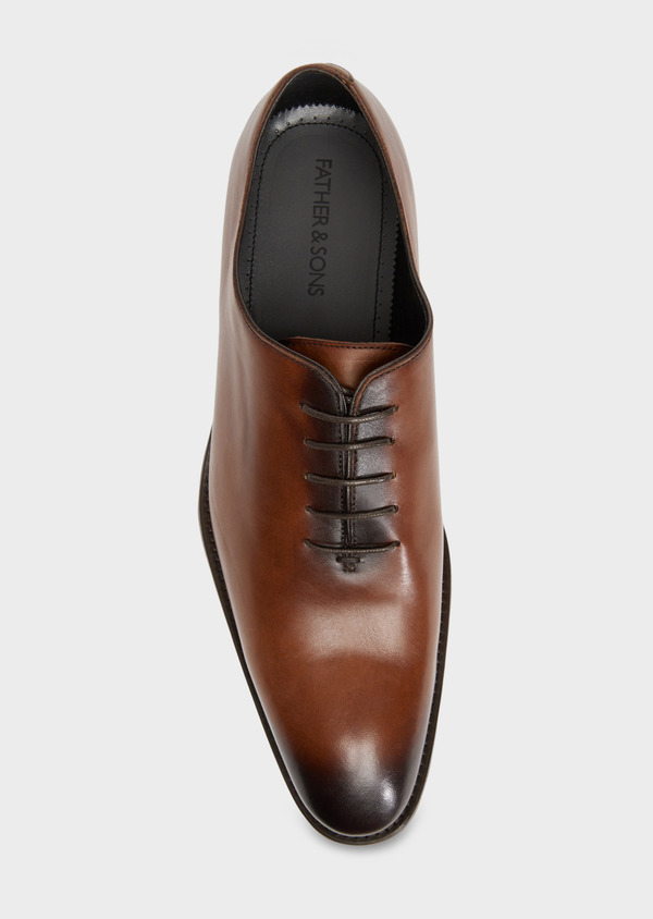 Richelieus en cuir lisse cognac - Father and Sons 36284