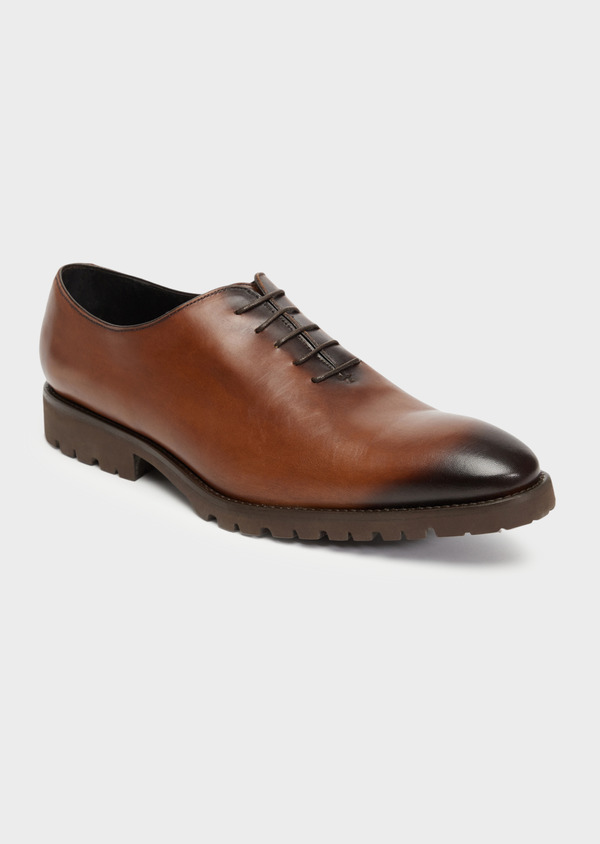 Richelieus en cuir lisse cognac - Father and Sons 36283