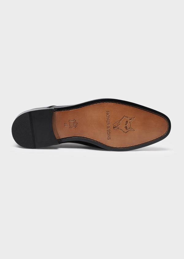 Richelieus en cuir lisse noir - Father and Sons 34839