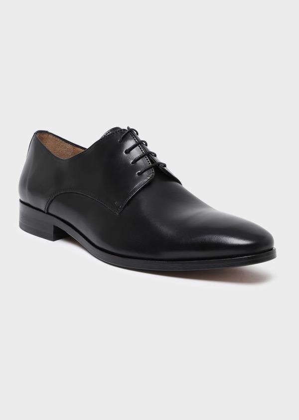 Richelieus en cuir lisse noir - Father and Sons 34837