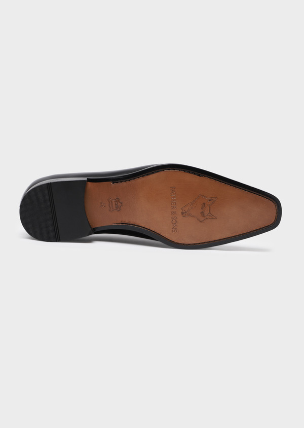 Richelieus en cuir lisse noir - Father and Sons 34845