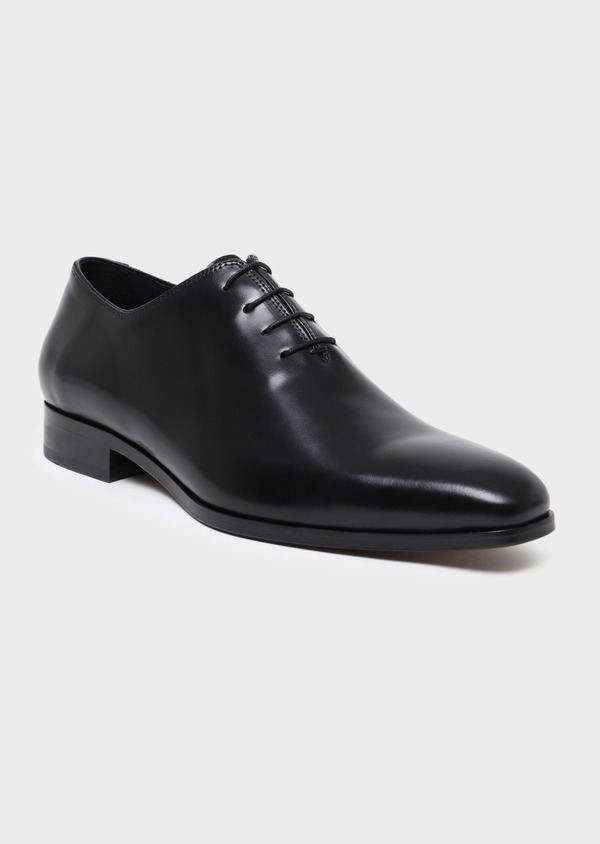 Richelieus en cuir lisse noir - Father and Sons 34843