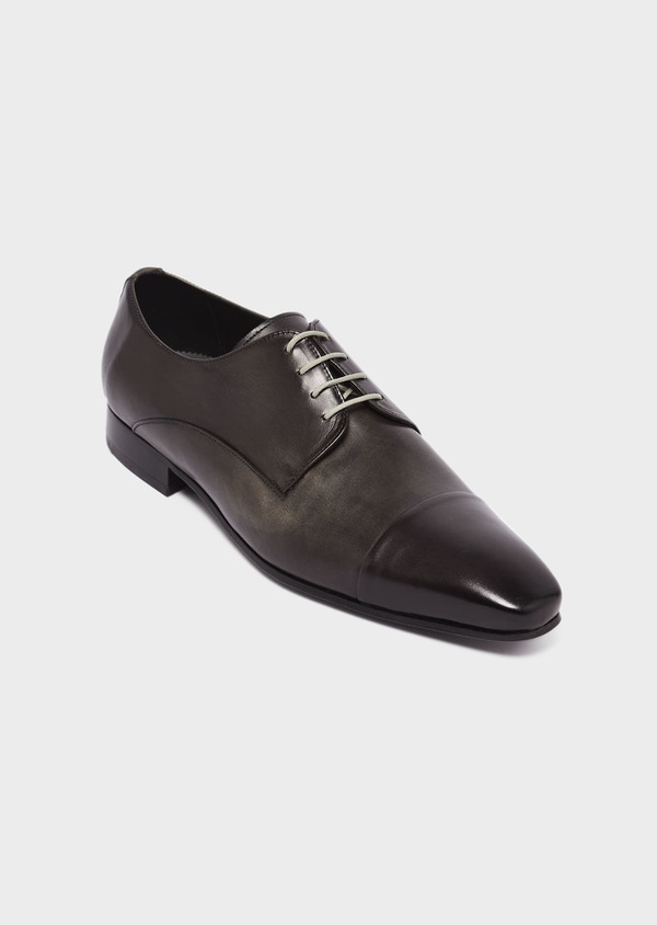Derbies en cuir gris anthracite - Father and Sons 29478