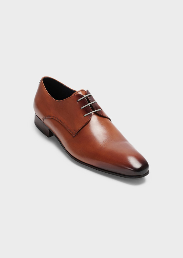 Derbies en cuir marron clair - Father and Sons 29503