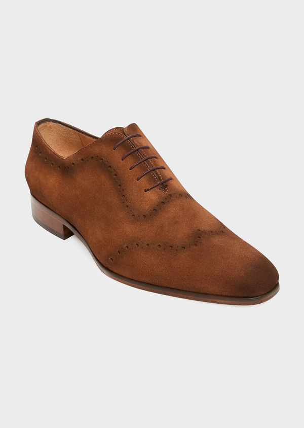 Richelieus en daim marron - Father and Sons 32215