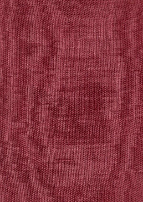 Chemise sport Slim en lin uni rouge foncé - Father and Sons 32511
