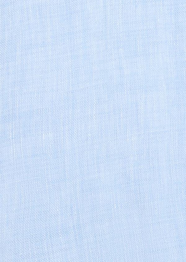 Chemise sport Slim en lin uni bleu ciel - Father and Sons 32479