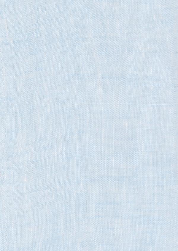 Chemise sport Slim en lin uni bleu ciel - Father and Sons 20102