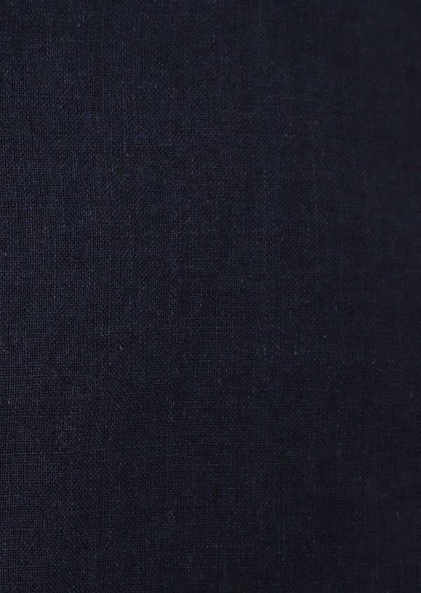 Chemise sport Slim en lin uni bleu marine - Father and Sons 34427
